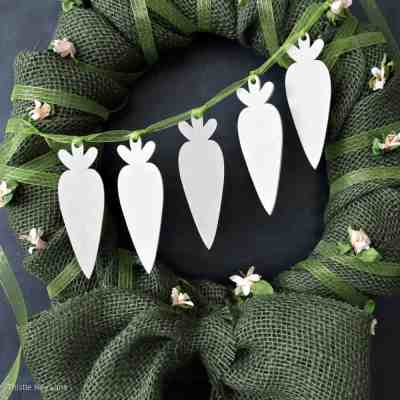 Spring Burlap And Carrot Wreath