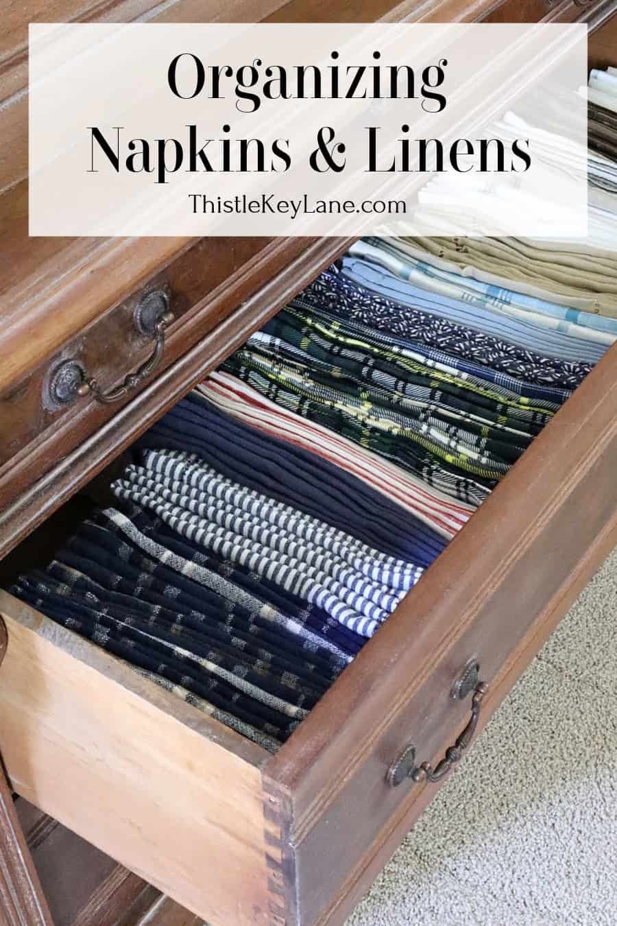 Organizing Napkins And Linens