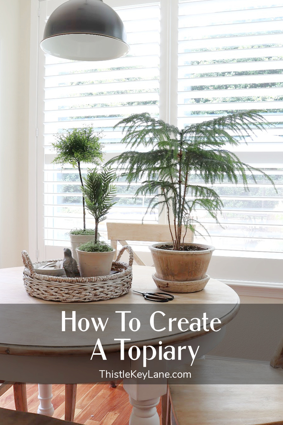 How To Create A Faux Topiary