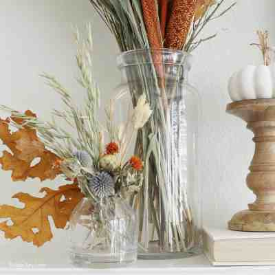 Decorating A Fall Mantel With Dried Arrangements