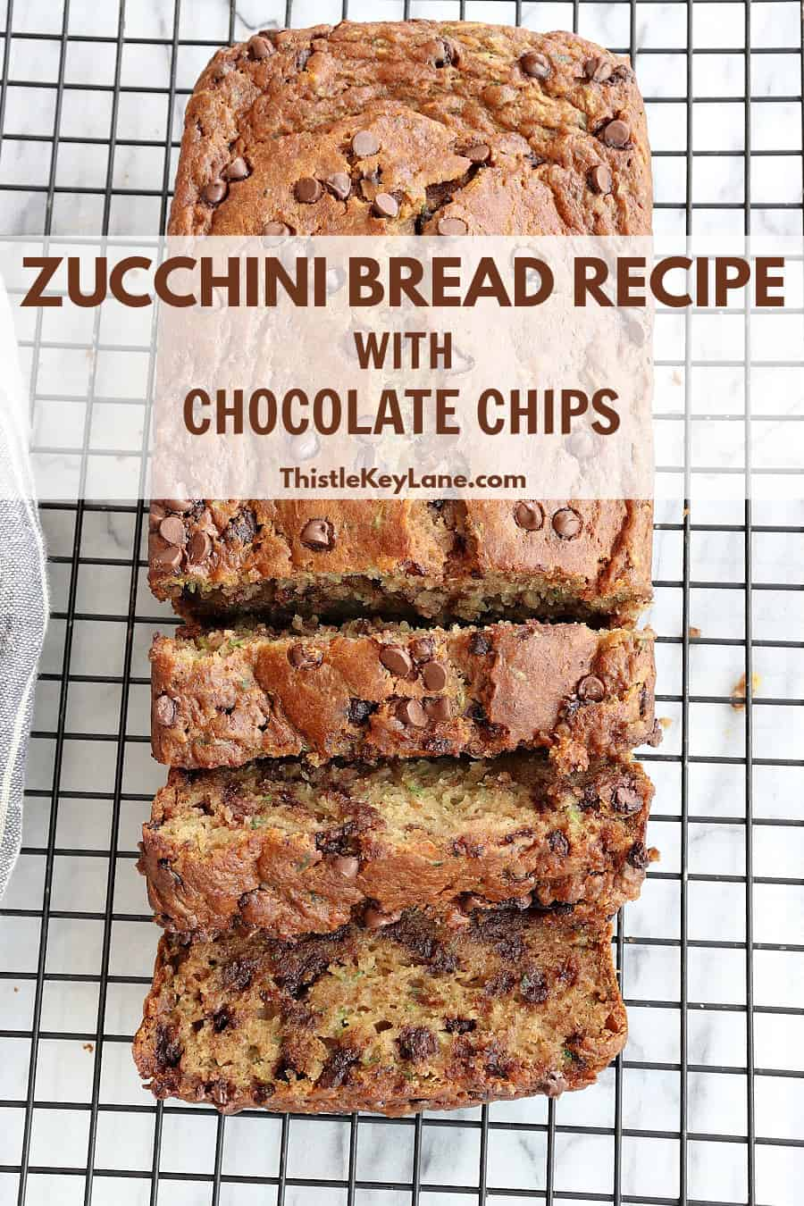 Zucchini Bread Recipe With Chocolate Chips.