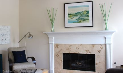 Mantle family room