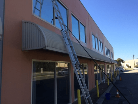 High commercial window cleaning Canning Vale Perth.
