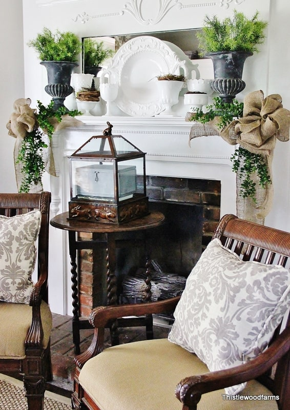 Fireplace mantel inspiration for spring