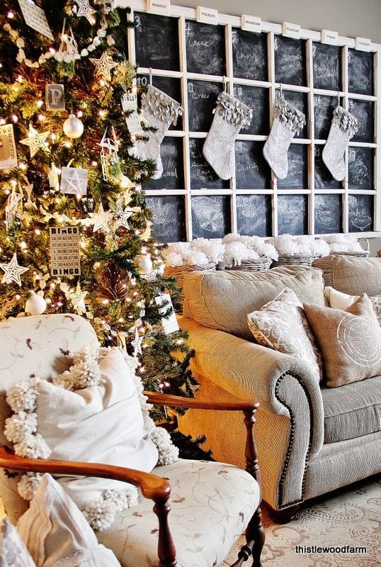 Family Room Farmhouse Christmas