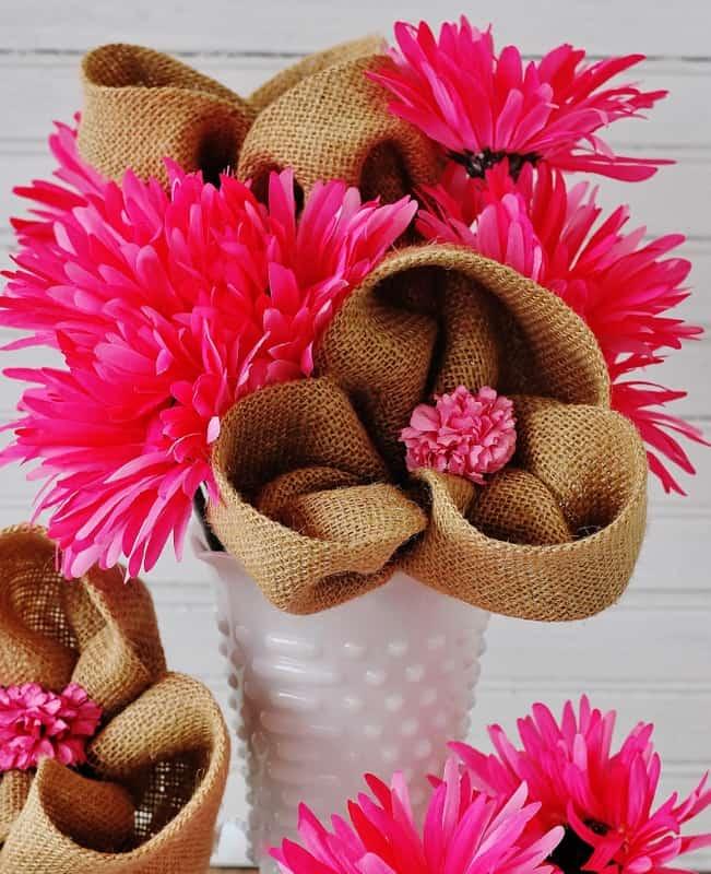 Burlap-Flower-Project