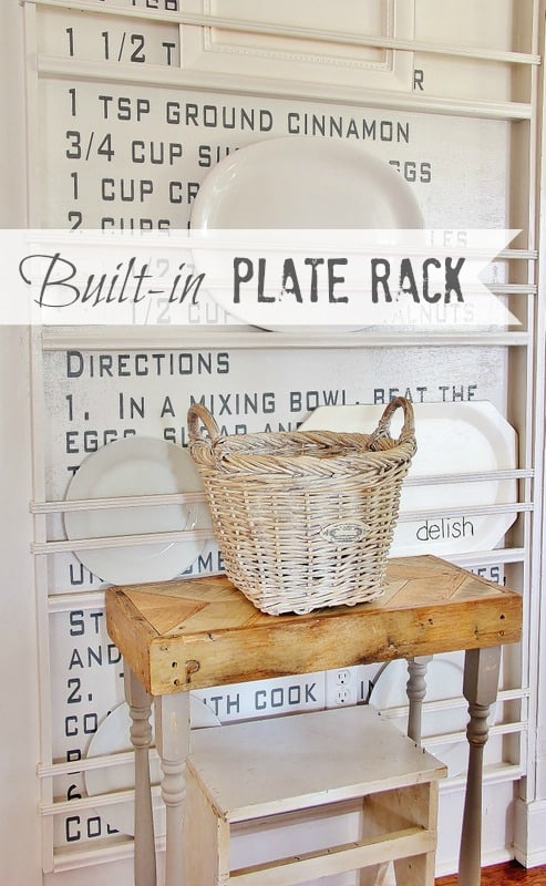 Make your own built-in plate rack
