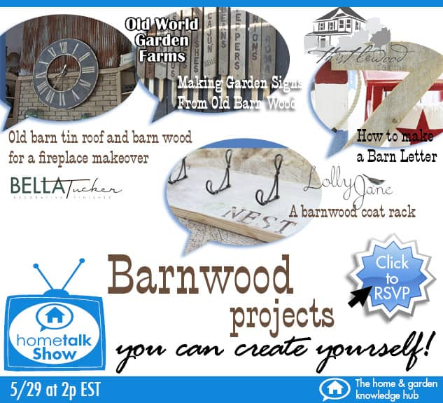 Hometalk Show feature - Barnwood Projects you can make yourself