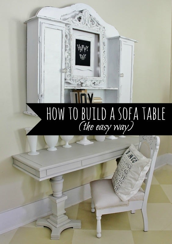 How to build a sofa table- the easy way