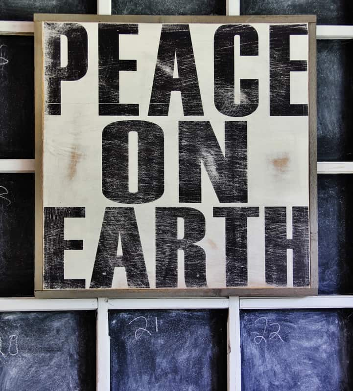 Peace-On-Earth-Sign