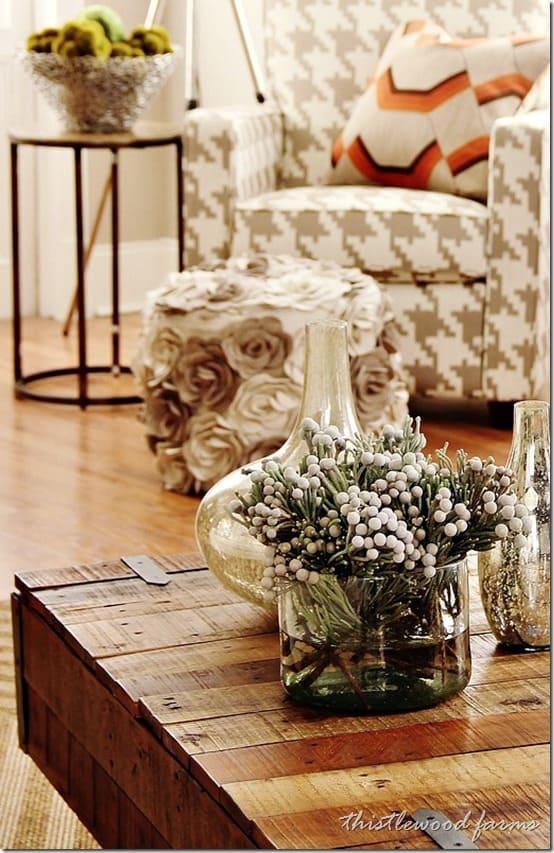 industrial farmhouse decor table