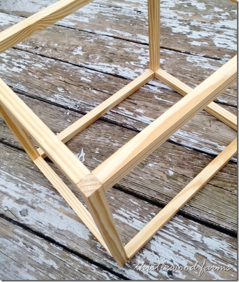 Measure carefully to assemble the frame from square molding.