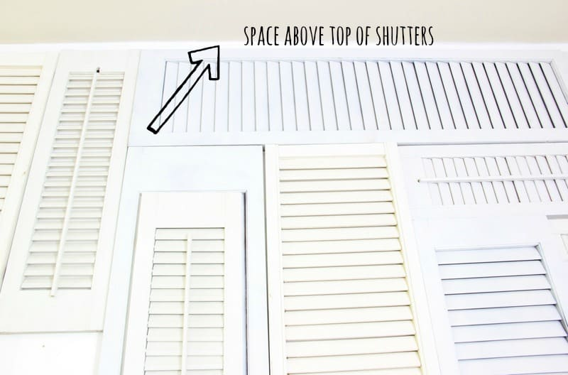 Leave a little bit of wiggle room at the top and bottom of your wall in case you need to adjust your shutters