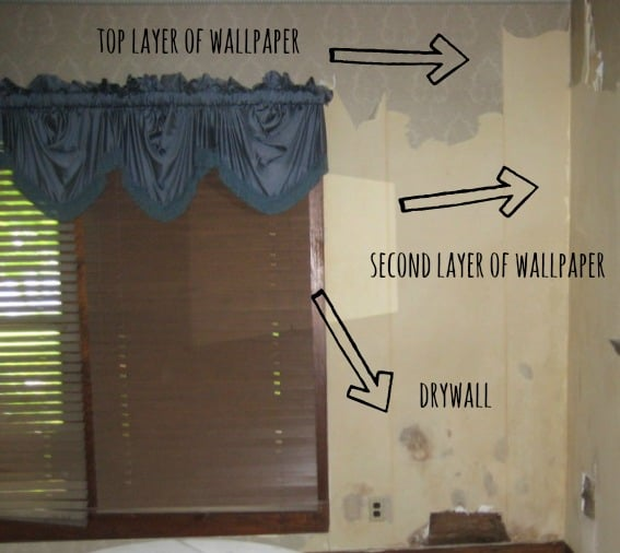 It's important to be aware that some wallpaper has several layers that must be removed.