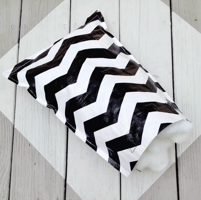 reuseable shoppng bag to a pillow