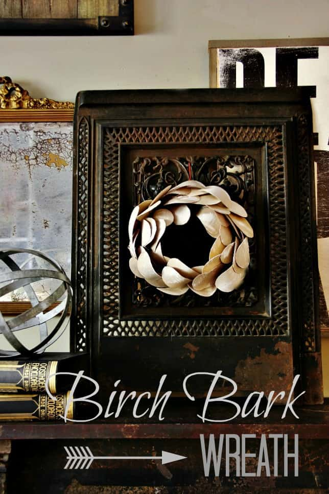 How to make a birch bark wreath