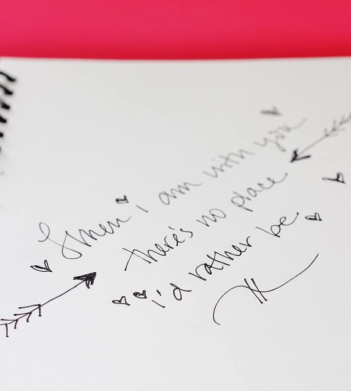 Hand-Stitched Notebook note