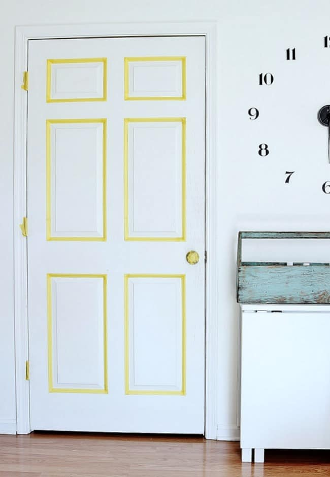 how-to-paint-a-faux-paneled-door