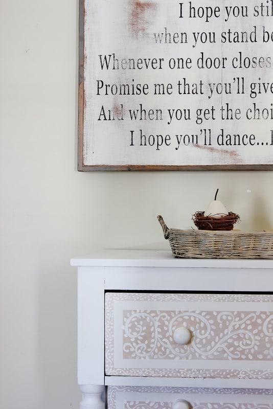 master bedroom wooden sign