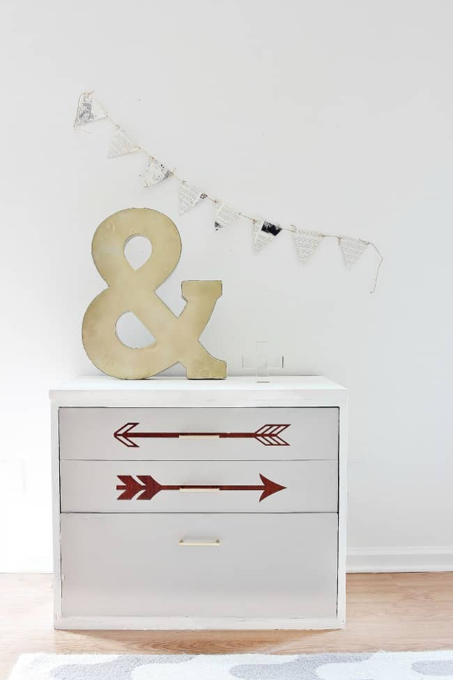 chalky painted dresser