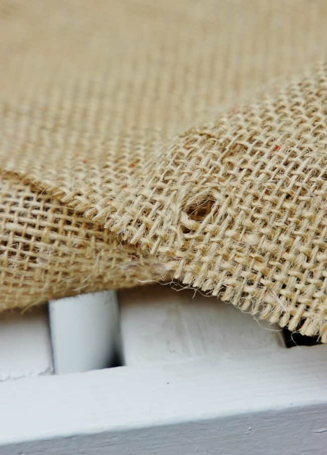 burlap table runner project