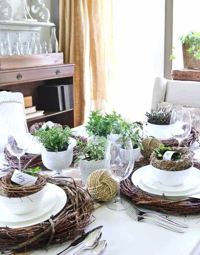 place setting dining room