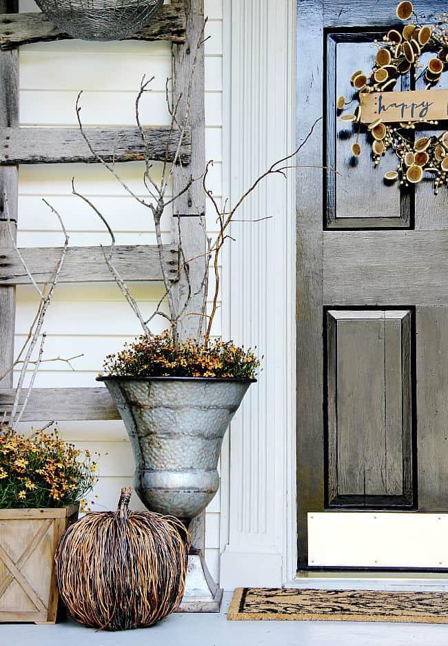 fall decorating front door ideas