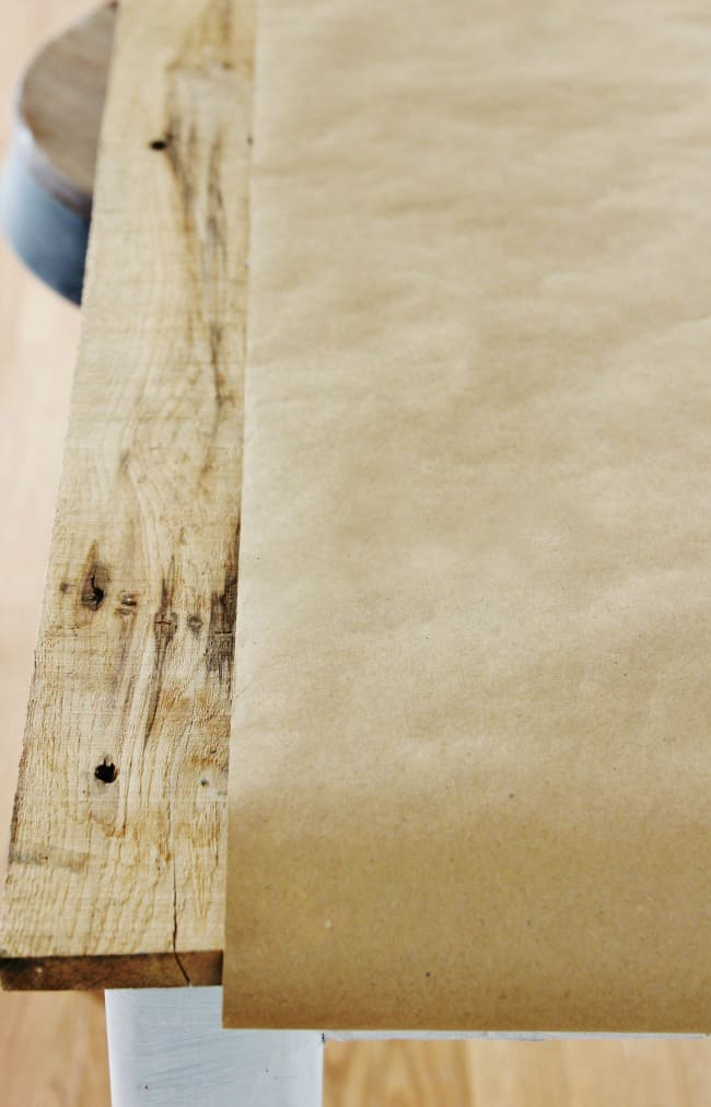 table runner craft paper