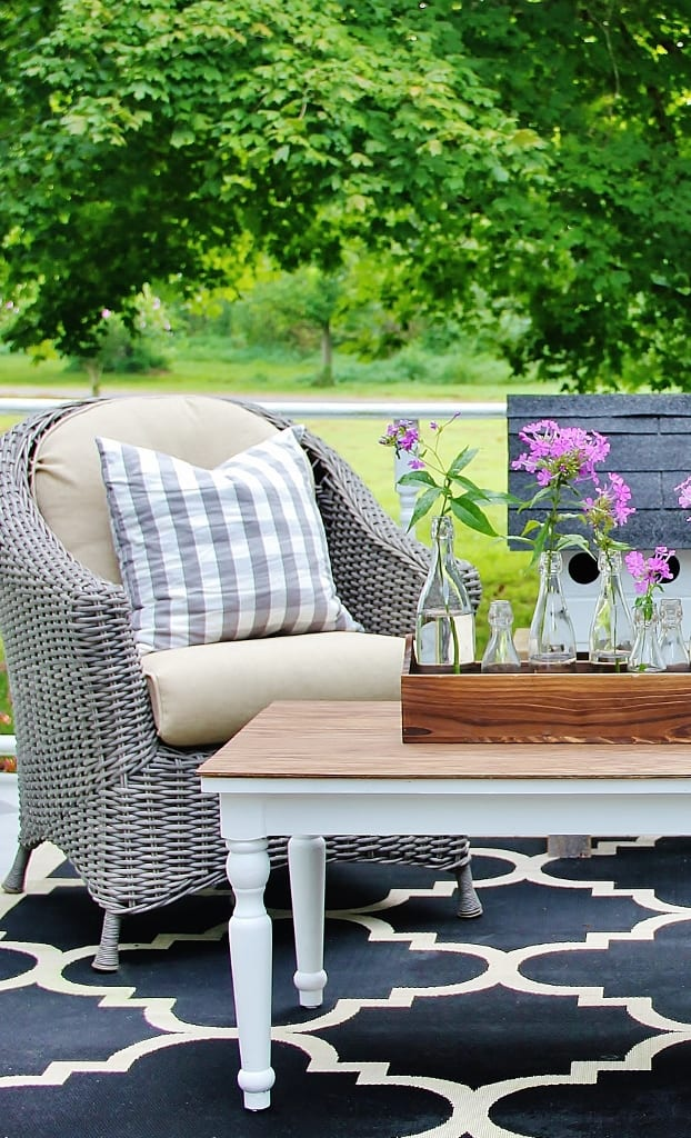 how to decorate a coffee table outdoor table