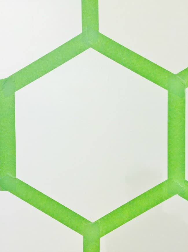 painted wall ideas Hexagon Wall Close-up Picture