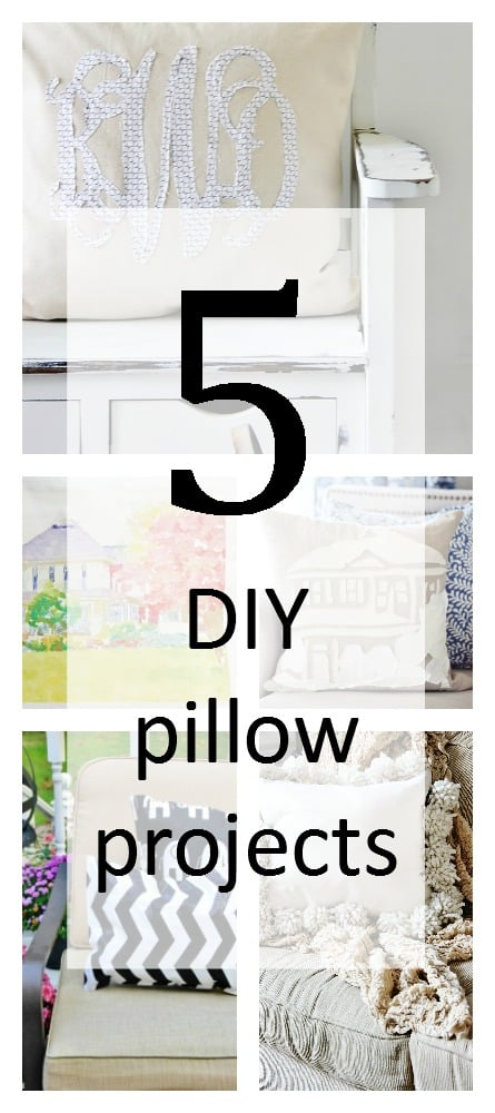 five DIY pillow projects