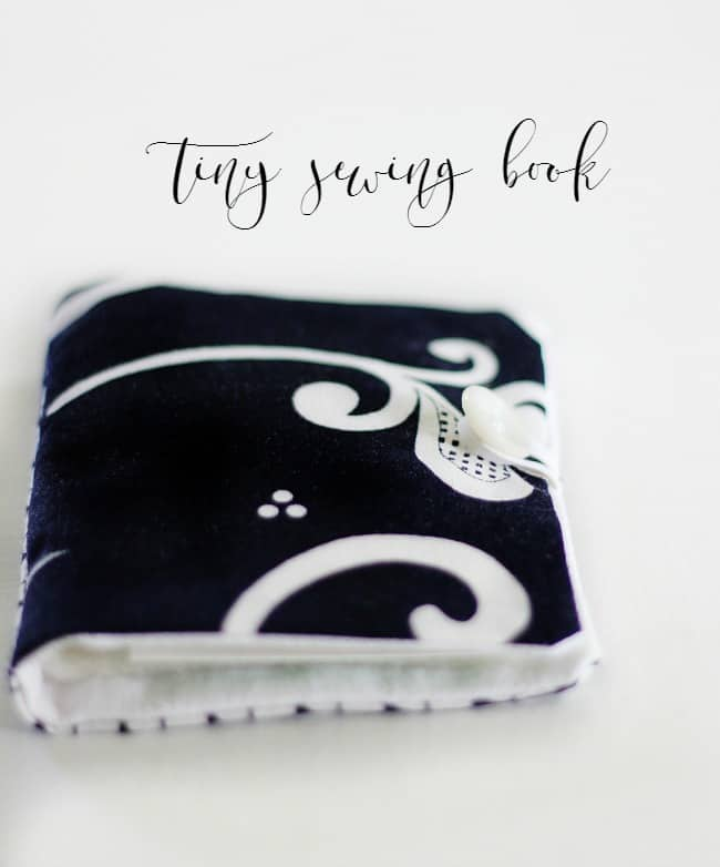 Small sewing book made from a charm pack