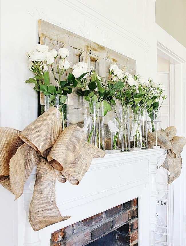 how decorate for spring bow