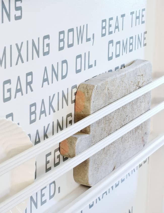 recipe wall cutting board