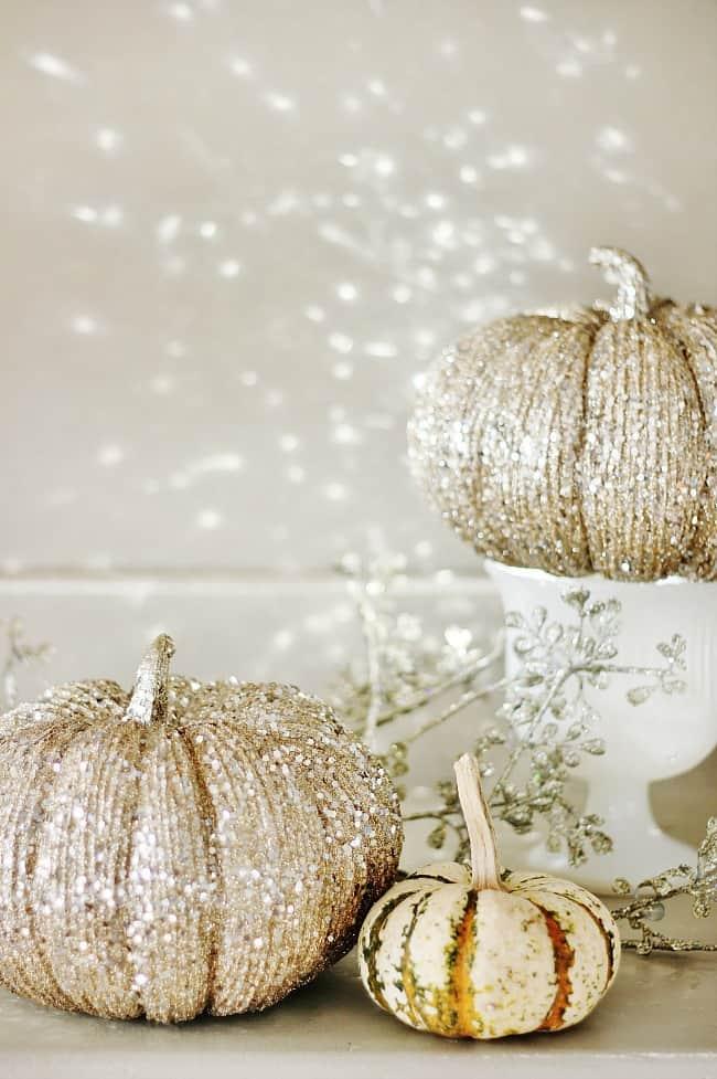glittered-pumpkin
