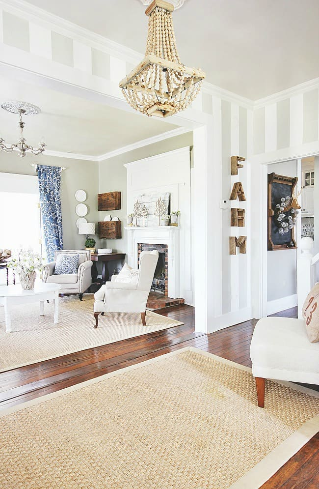 Thrift store decorating- the living room