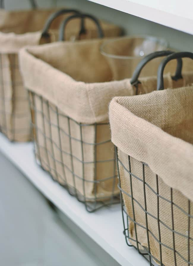 Basket in the pantry