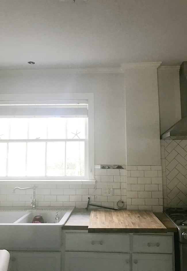 And a bit more of the progress on our kitchen, changing counter tops and reusing what we can.