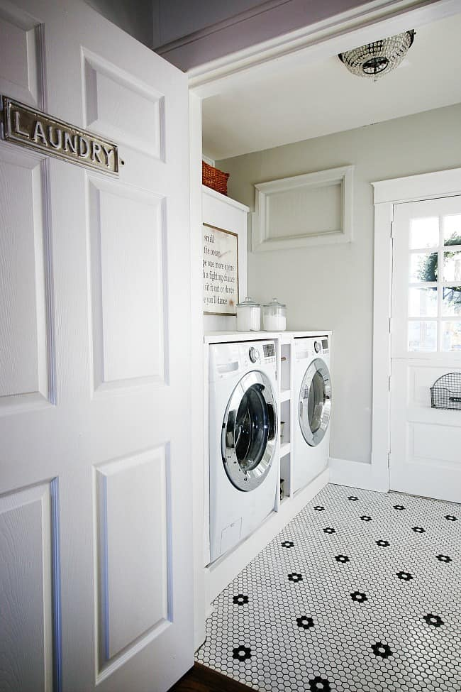 Newly updated and remodeled laundry room