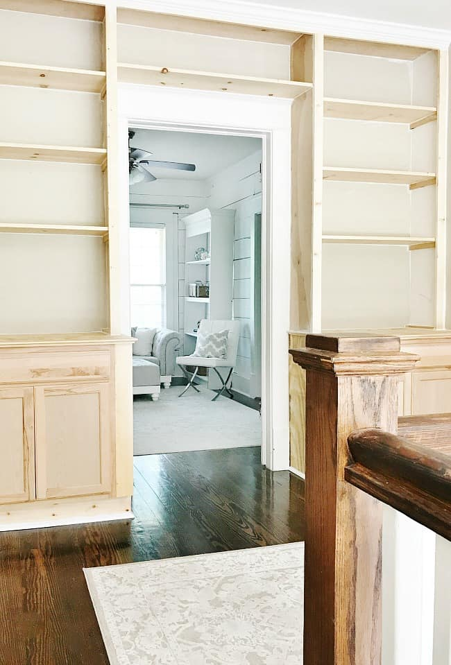 The new built ins, in progress- I'm so excited!