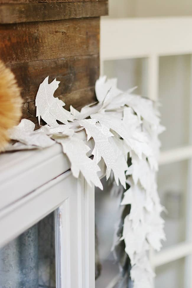 decorate for fall with book pages