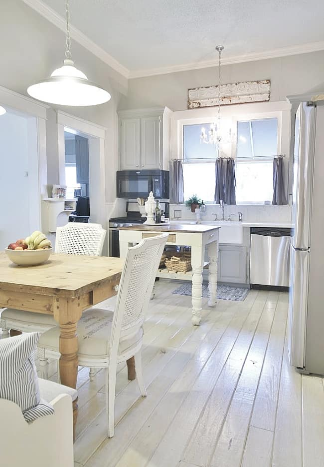 Christmas cottage kitchen