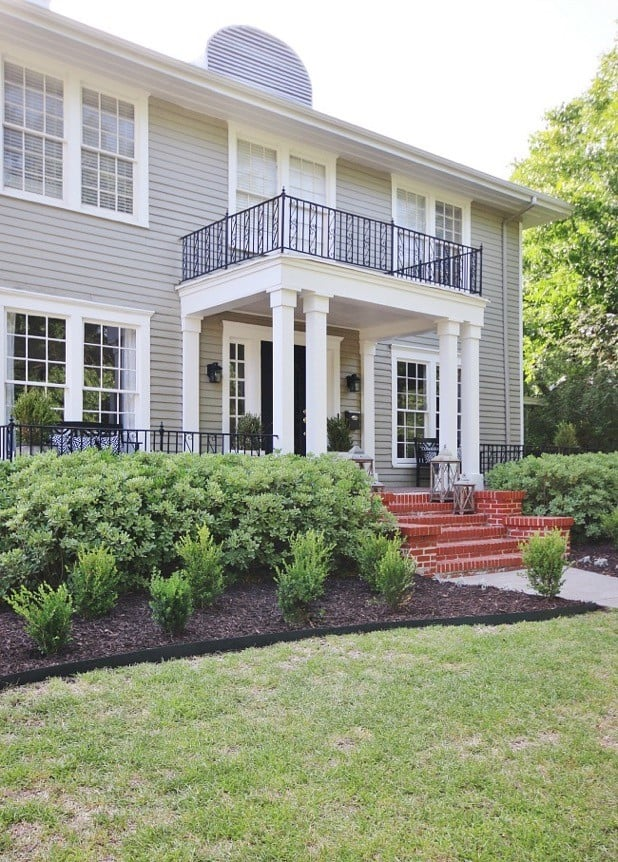 front of house with brick steps