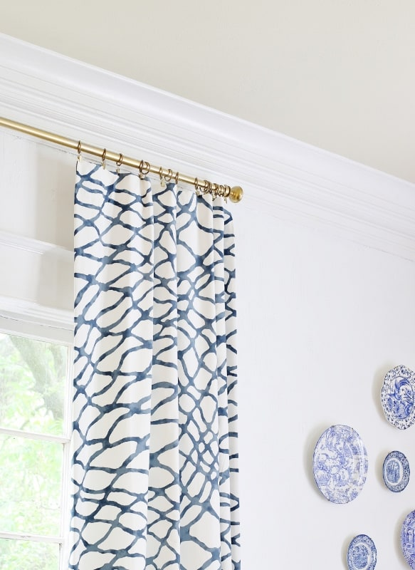 things you can transform with spray paint gold curtain rods