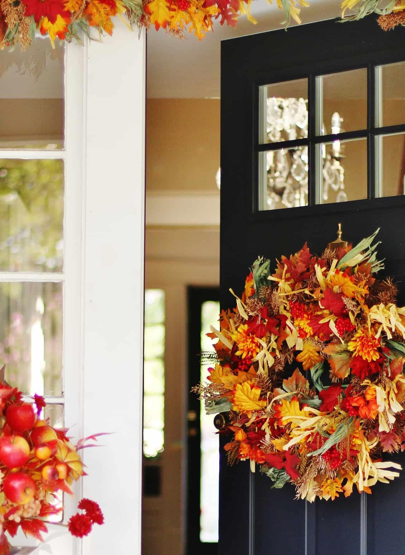 fall porch decorating ideas back door