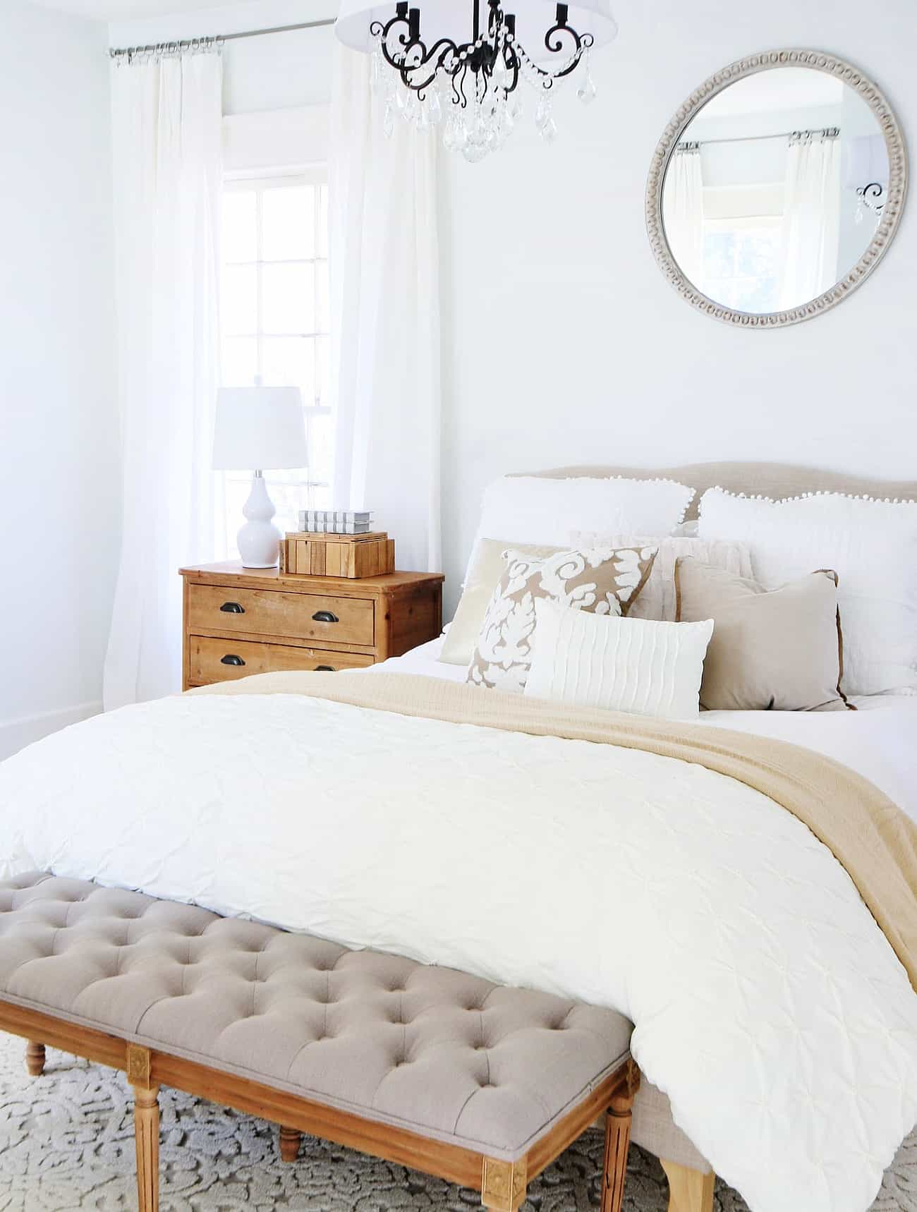 before and after bedroom with bed