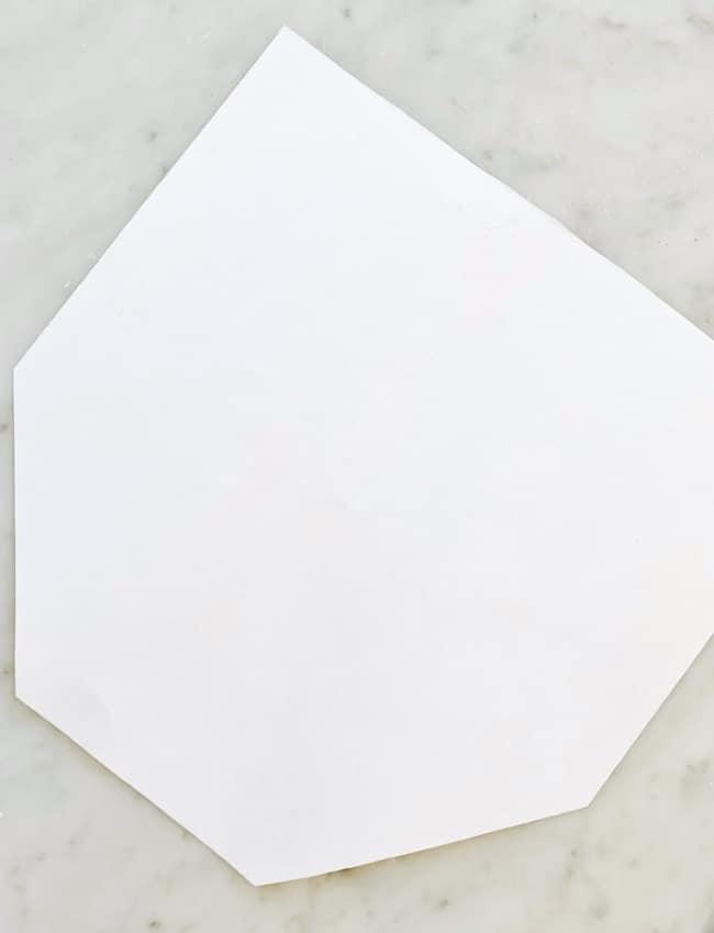 DIY Easter carrot paper template