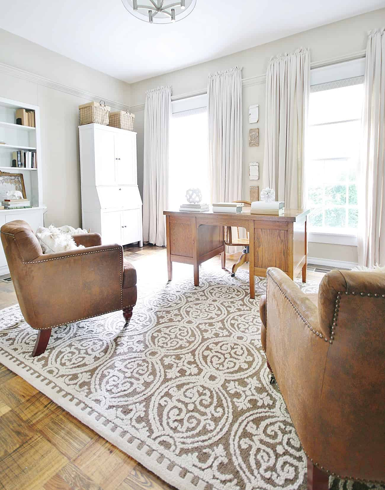 fancy rug with furniture