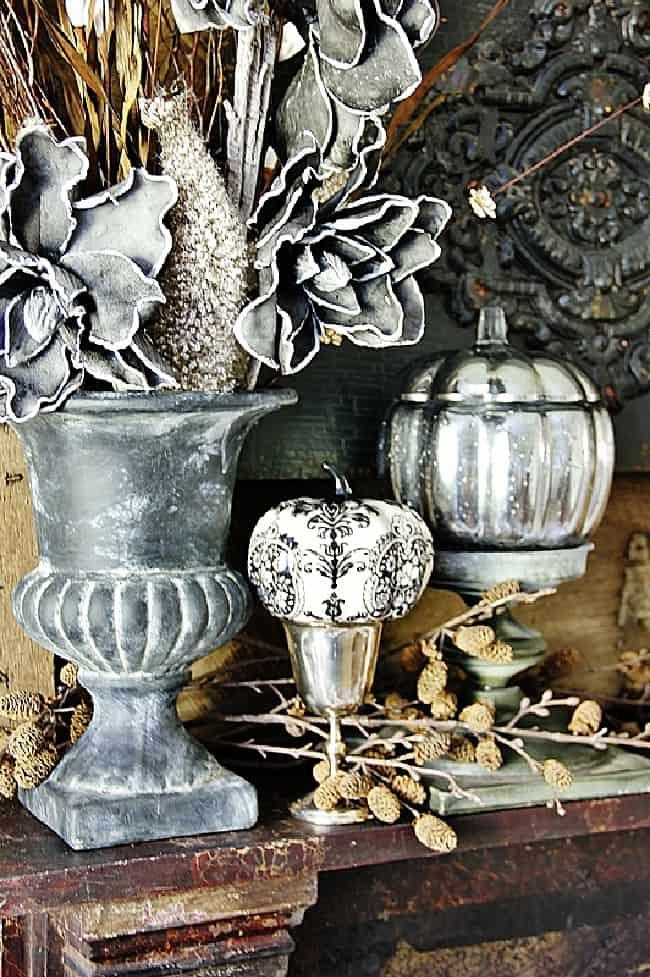 fall craft projects mercury glass pumpkins