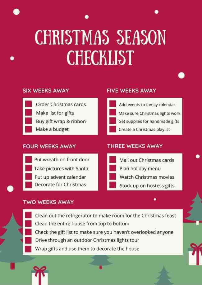 Christmas Checklist Page 1